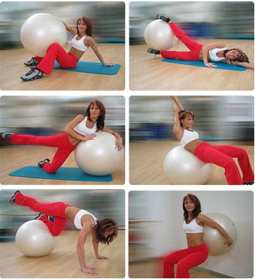 Фитнес в домашних условиях на мяче для